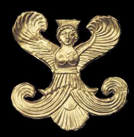 Крылатая богиня из кургана Большая БлИзница, д. Стеблиевки на Таманском полуострове