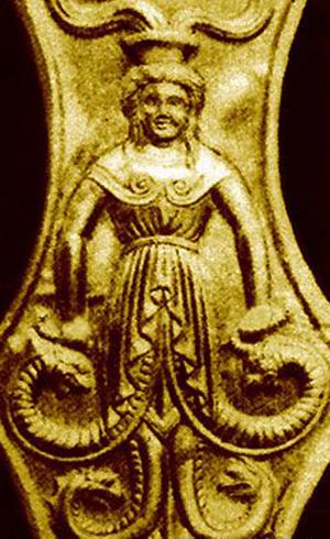 Курган большая Цимбалка. Змееногая богиня скифов