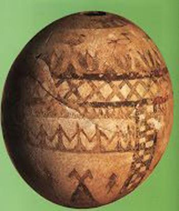 Этрусское яйцо из Вулчи, VII век до н.э.