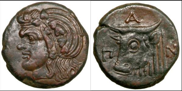 Драхма. 340 - 325 г.г. до н.э. Херсонес Таврический.