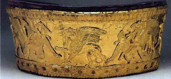 Куль-Оба - IVвек до н.э. Калаф- битва аримаспов с грифонами