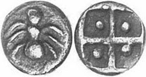 Пантикапей-500г.-до-н.э. Серебро. Муравей-труженик и засеянное поле