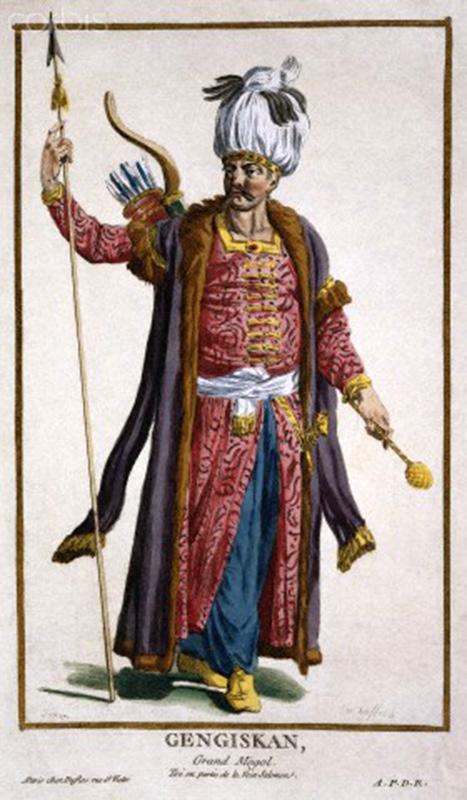 Чингиз-хан. Французская гравюра Пьера Дюфло (Pierre-Duflos -1742-1816)