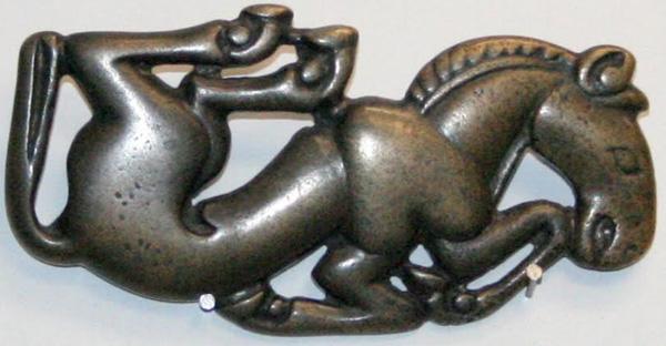 Конь-единорог, скачущий по небу и земле, Тыва, курган Аржан.