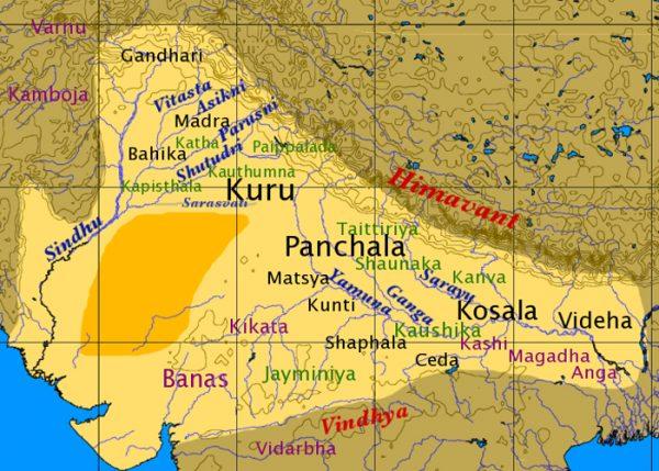 Карта Ведической Индии