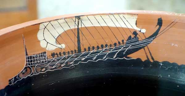 Корабль эллинов 6 век до н.э.