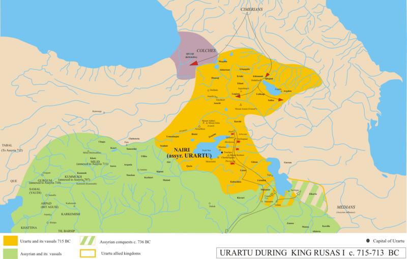 Походы киммерийцев на Колхиду и Урарту-715 г.до-н.э