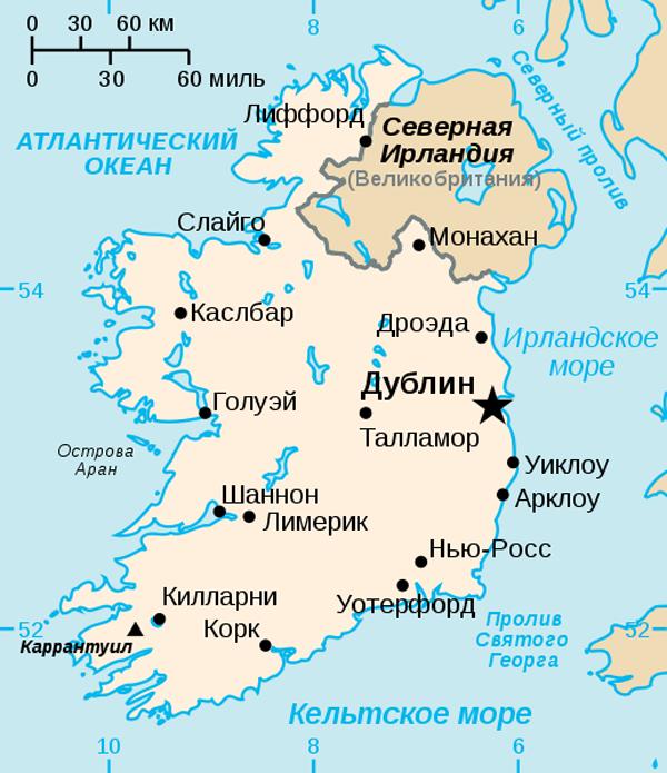 karta-irlandii