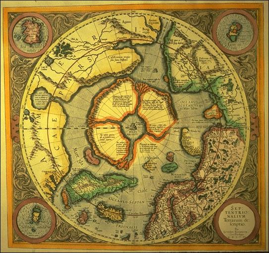 karta-1595-goda-giperboreya-i-pripolyare-gerarda-merkatora