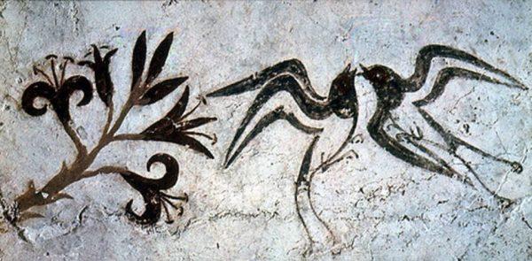 freska-lilii-i-lastochki-1650-do-n-e
