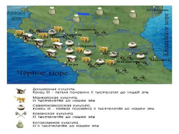 karta-majkopskaya-arx-kultura-3-vek-do-n-e
