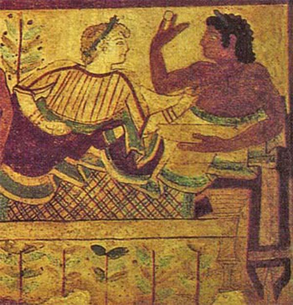 Тарквиния-яйцо-фреска