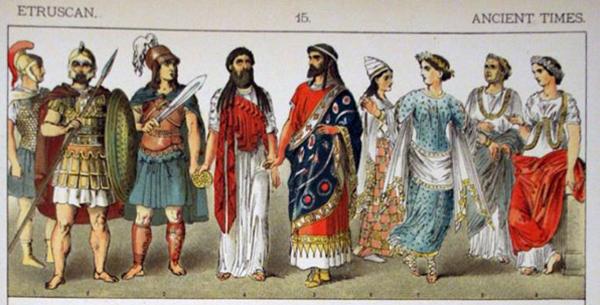 Этрусский военный и гражданский dress.1882 Альберт Кречмера
