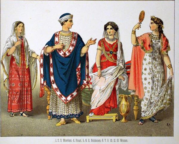 Этрусский военный и гражданский dress.1882 - Альберт Кречмера