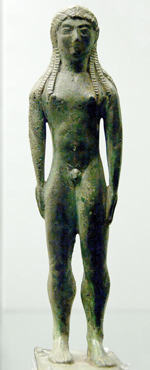 боги-аплу-Бронз. стат. из Кьюзи. 550-530 гг. до н.э.