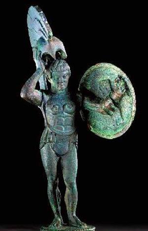 боги-марс бронзов. статуя-450 г. до н.э.