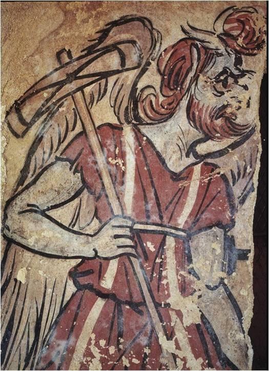 Двусторонний топор-секира в руках Харуна