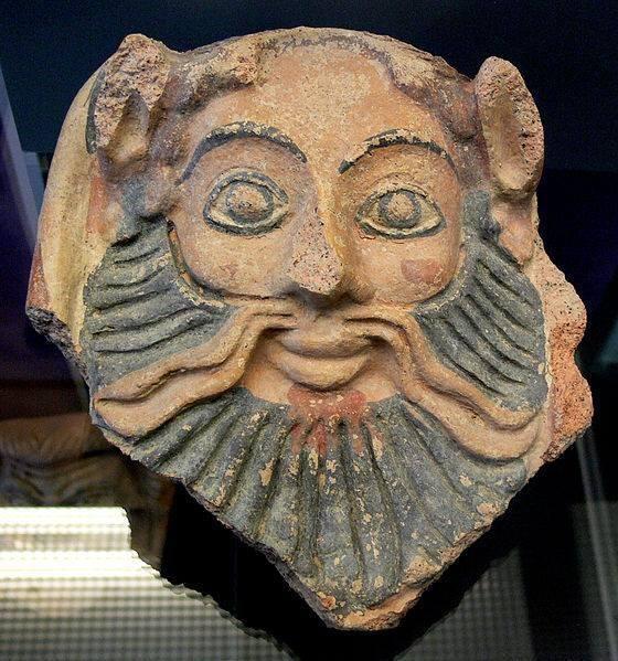 боги-Etruscan Satyr - 5th century B.C.