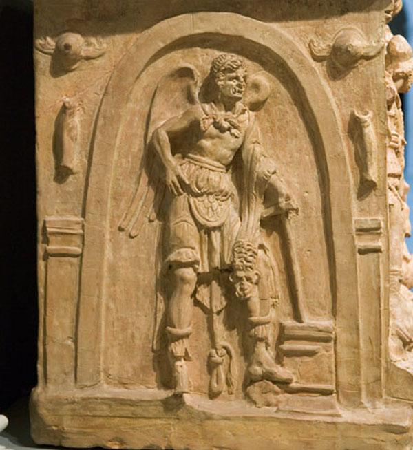 воин-урна-Charún, сопровождение мертвых
