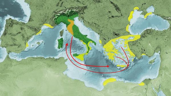 карта-начало этрусков