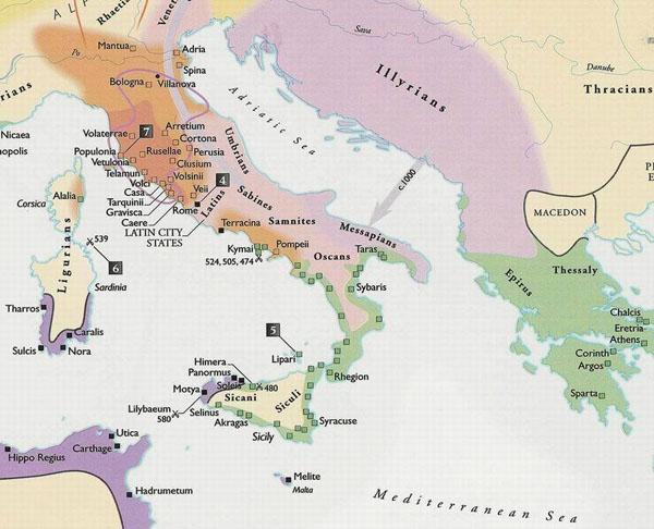 карта-этрусски-ранний рим и волчи