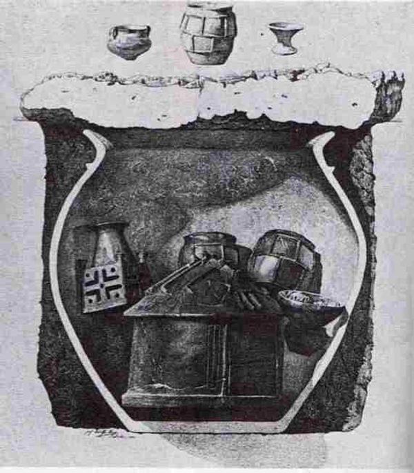макет-фото-этрус-Гробница Долио Х в. до нашей эры-на рим. форуме