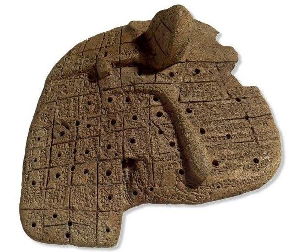 печень-гадание из Вавилона-1900 г. до н.э.