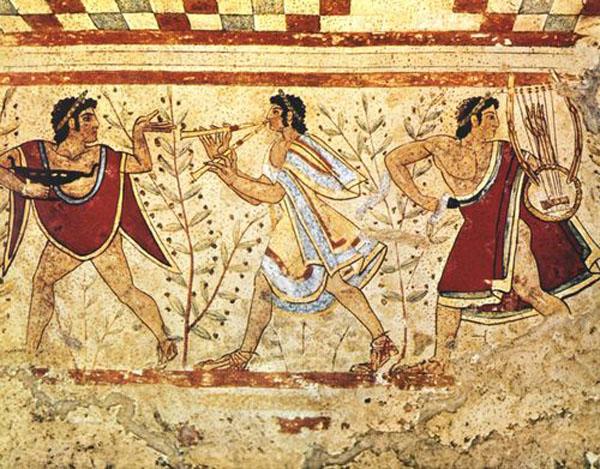 фреска-Муз. из гробницы Триклиния, 470 г до н.э.