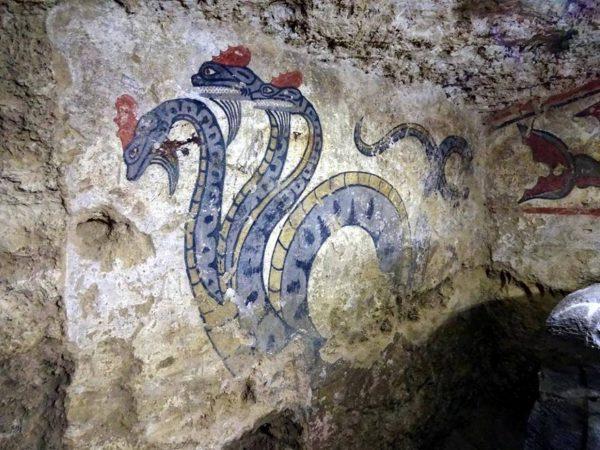 фреска-адской колесница- Сиена- 4 в. до н.э.