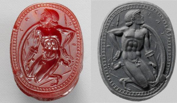 480 – 450 до н.э.надпись CALNF-печать