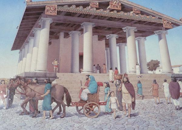 5 век до н.э. храма в этрусской города-государства Вульчи.