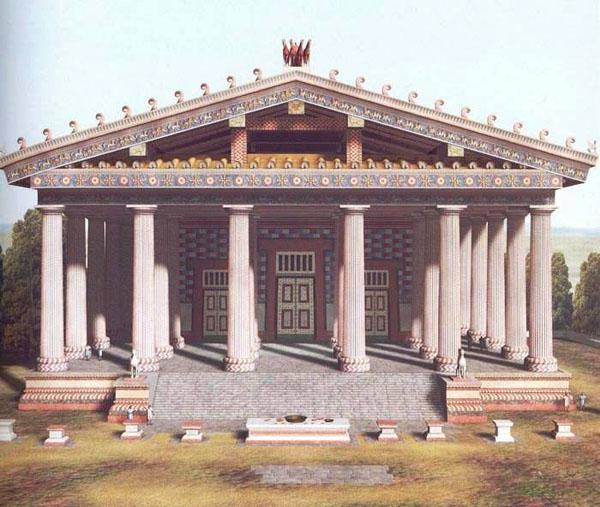 5 век.до н.э.=Капитолийский храм Луция Тарквиния Приска в этрусской Риме.