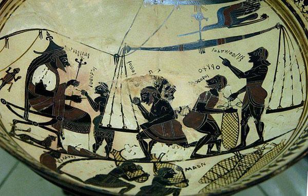 560 г. до н.э.-торговый корабль-Вулчи-келих