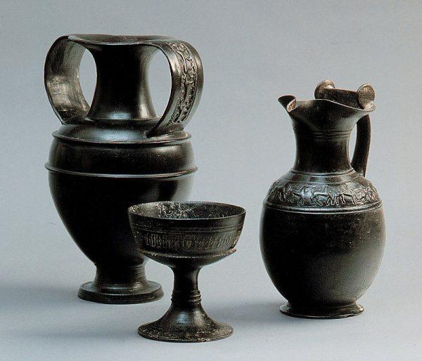 etrurie-Bucchero керамики